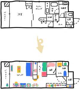 リノベーション,間取り,マンション,東京,関東,QUMA