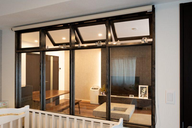 リノベーション,マンション,都心,リビング,ホテルライク,室内窓,関節照明,事例,感想