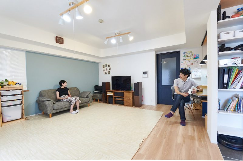 洗面台は廊下に、クローゼットは家族4人まとめて。都心での暮らしに余裕を生みだす導線設計。